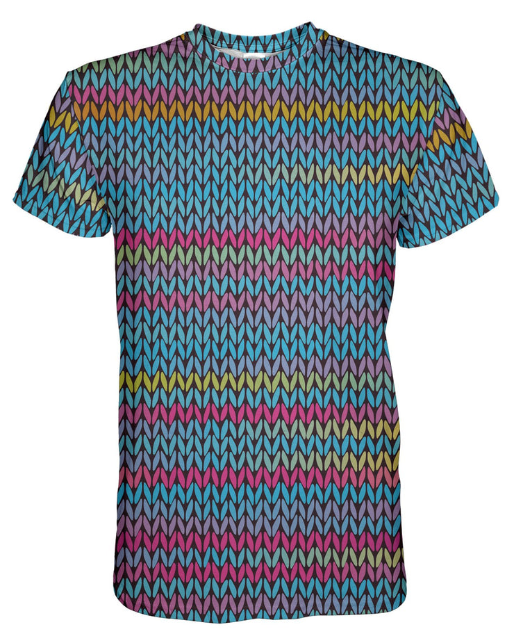 Rainbow Pastel Knit printed all over in HD on premium fabric. Handmade in California.