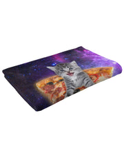 Pizza Kitten Fluffy Blanket