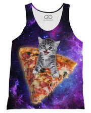 Pizza Kitten printed all over in HD on premium fabric. Handmade in California.