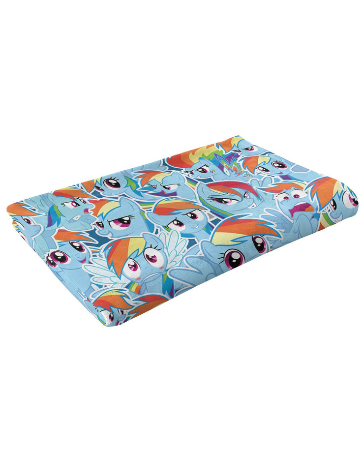 Rainbow Dash Fluffy Micro Fleece Throw Blanket