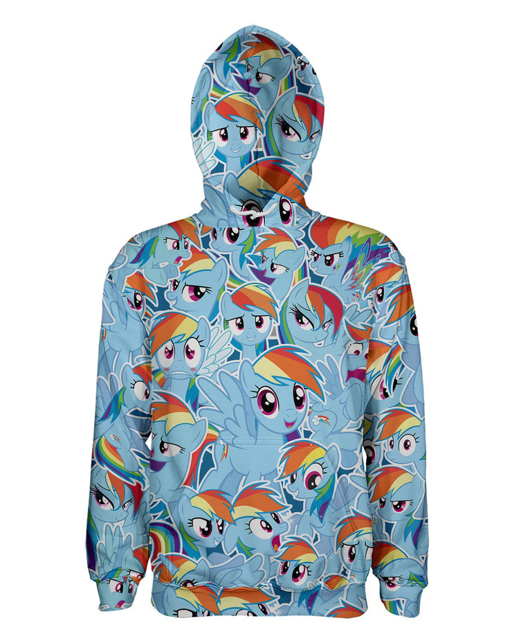 Rainbow Dash printed all over in HD on premium fabric. Handmade in California.