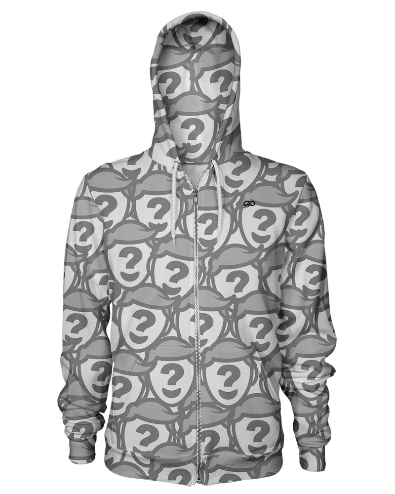 All Over Face Custom Zip Hoodie