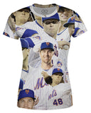 Jacob deGrom printed all over in HD on premium fabric. Handmade in California.
