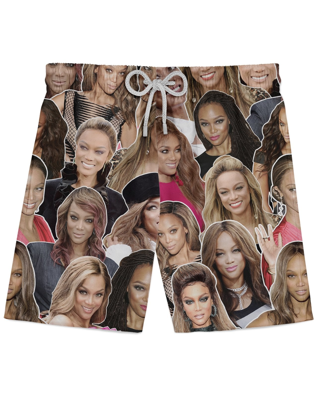 Tyra Banks printed all over in HD on premium fabric. Handmade in California.