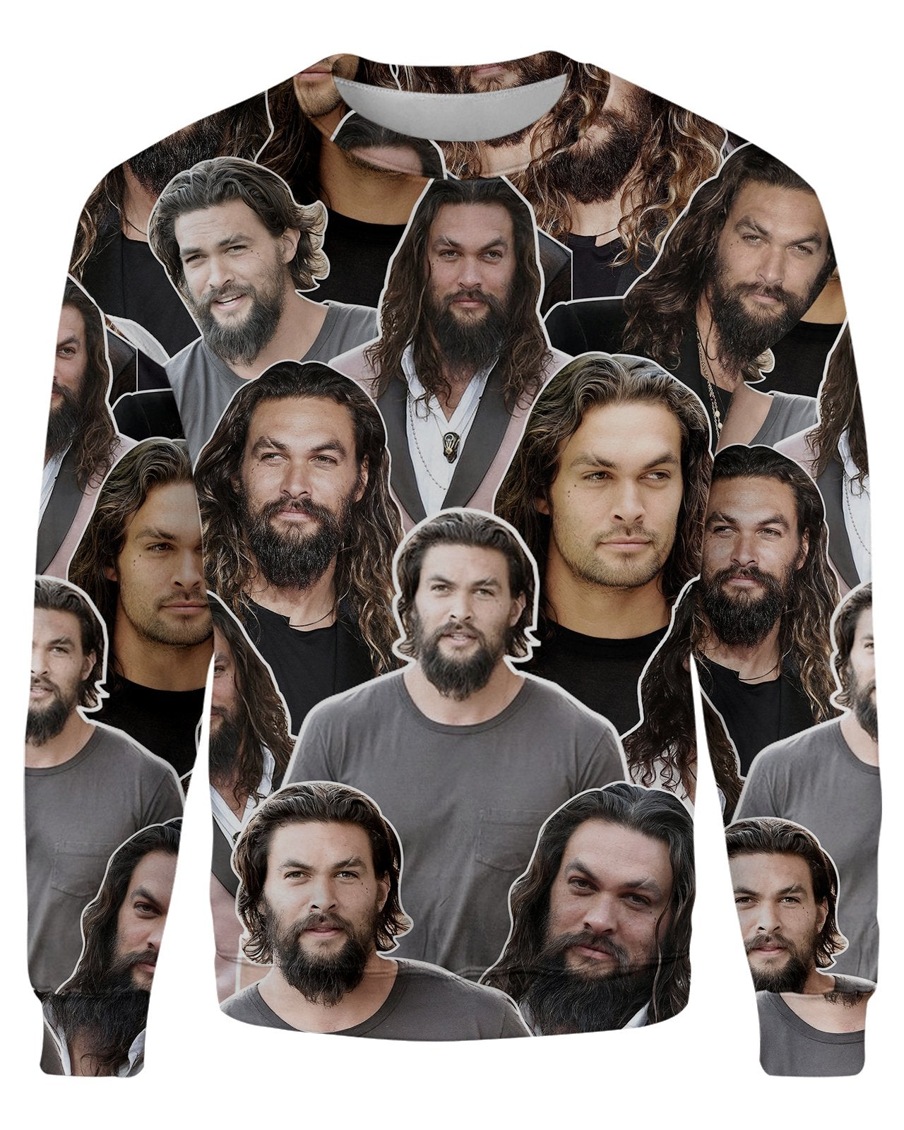 Jason Momoa printed all over in HD on premium fabric. Handmade in California.