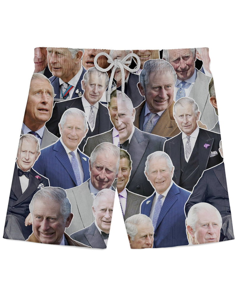 Prince Charles printed all over in HD on premium fabric. Handmade in California.