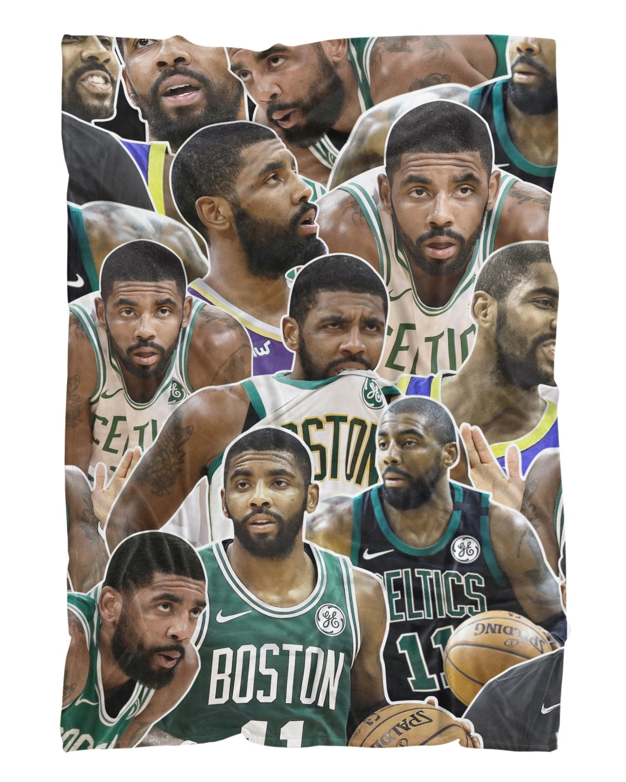 Kyrie Irving printed all over in HD on premium fabric. Handmade in California.