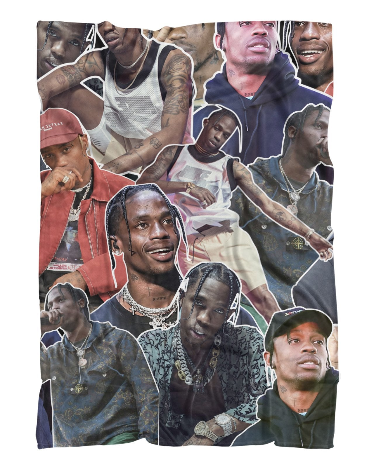 Travis Scott printed all over in HD on premium fabric. Handmade in California.