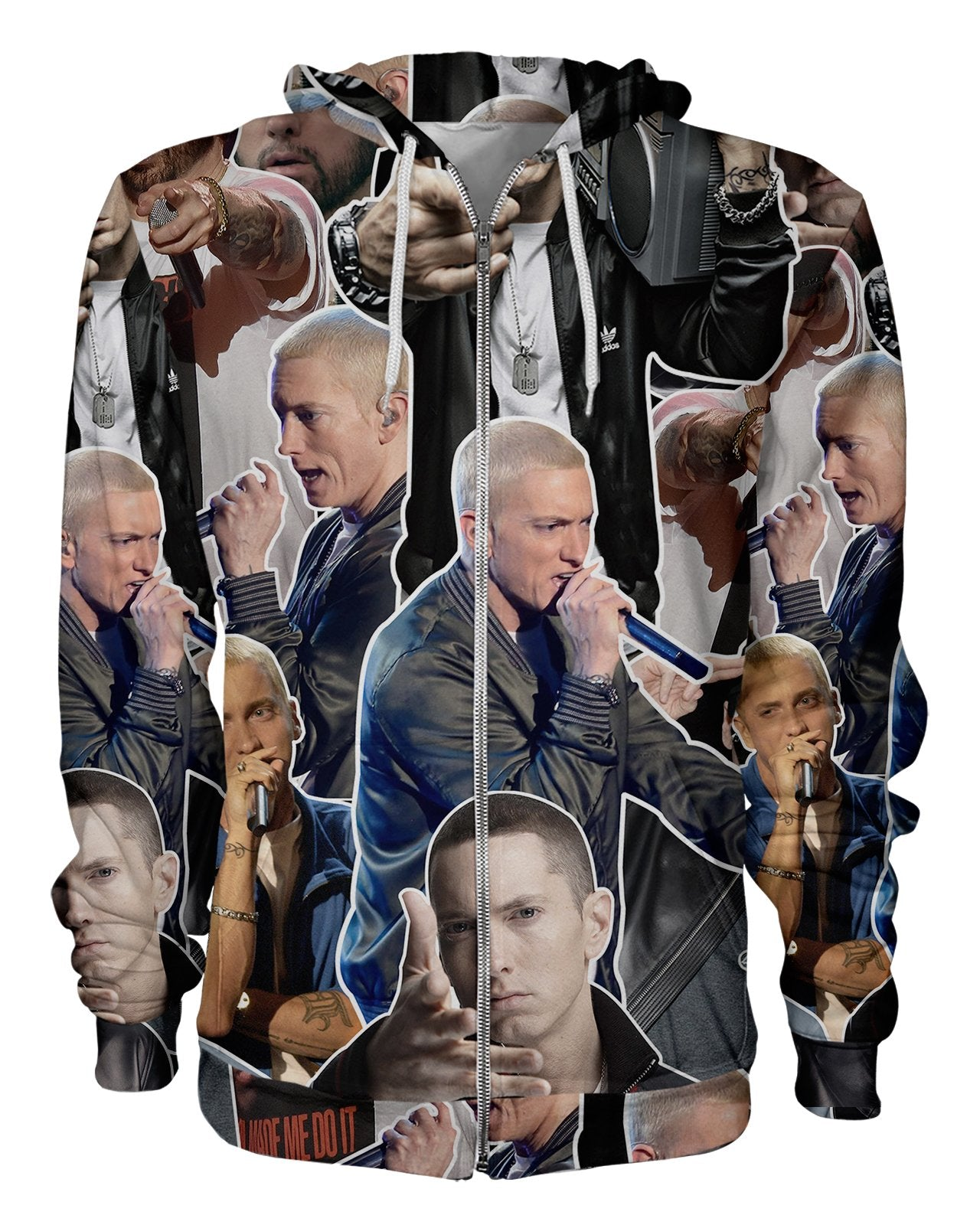 Eminem printed all over in HD on premium fabric. Handmade in California.