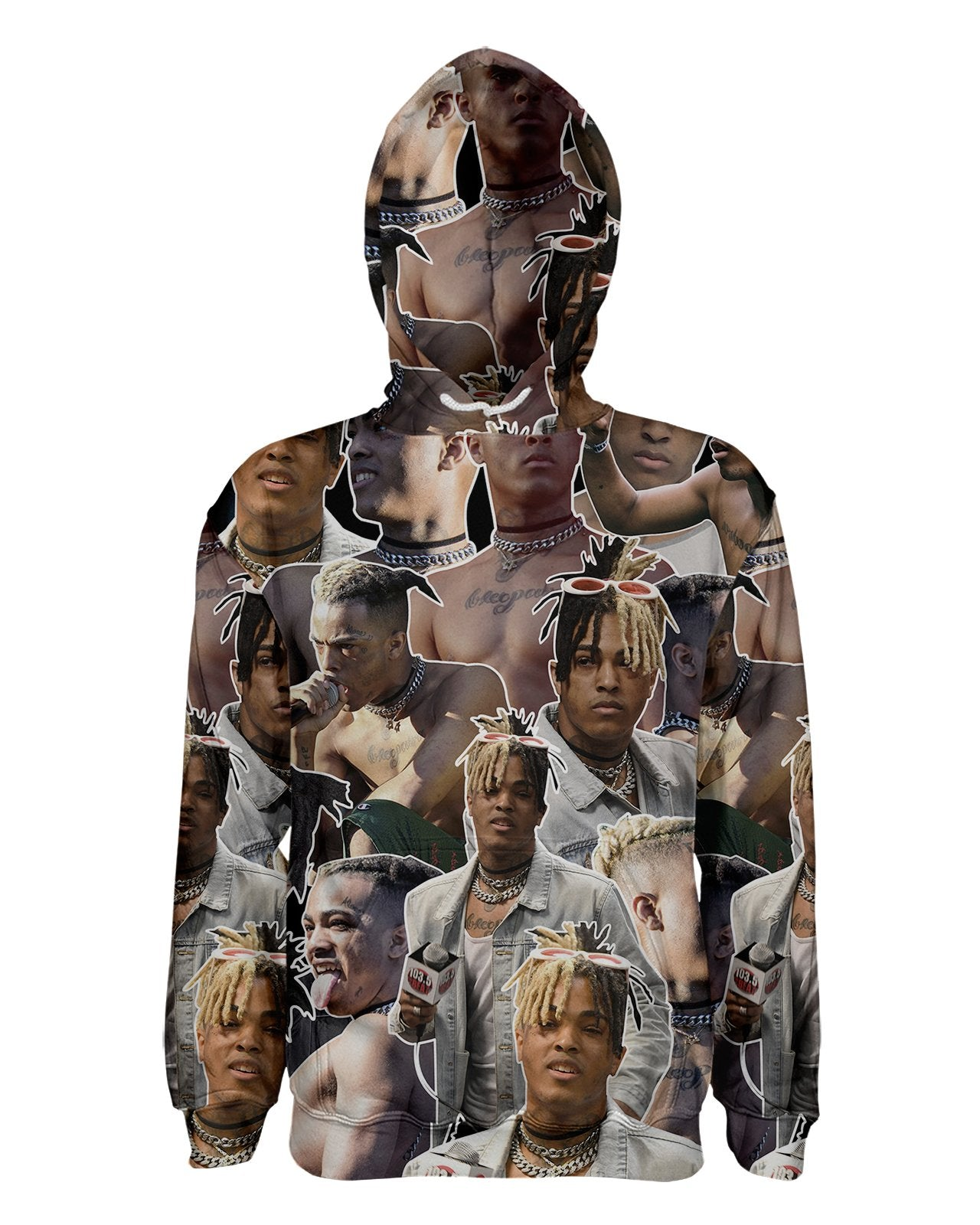 XXXTentacion printed all over in HD on premium fabric. Handmade in California.