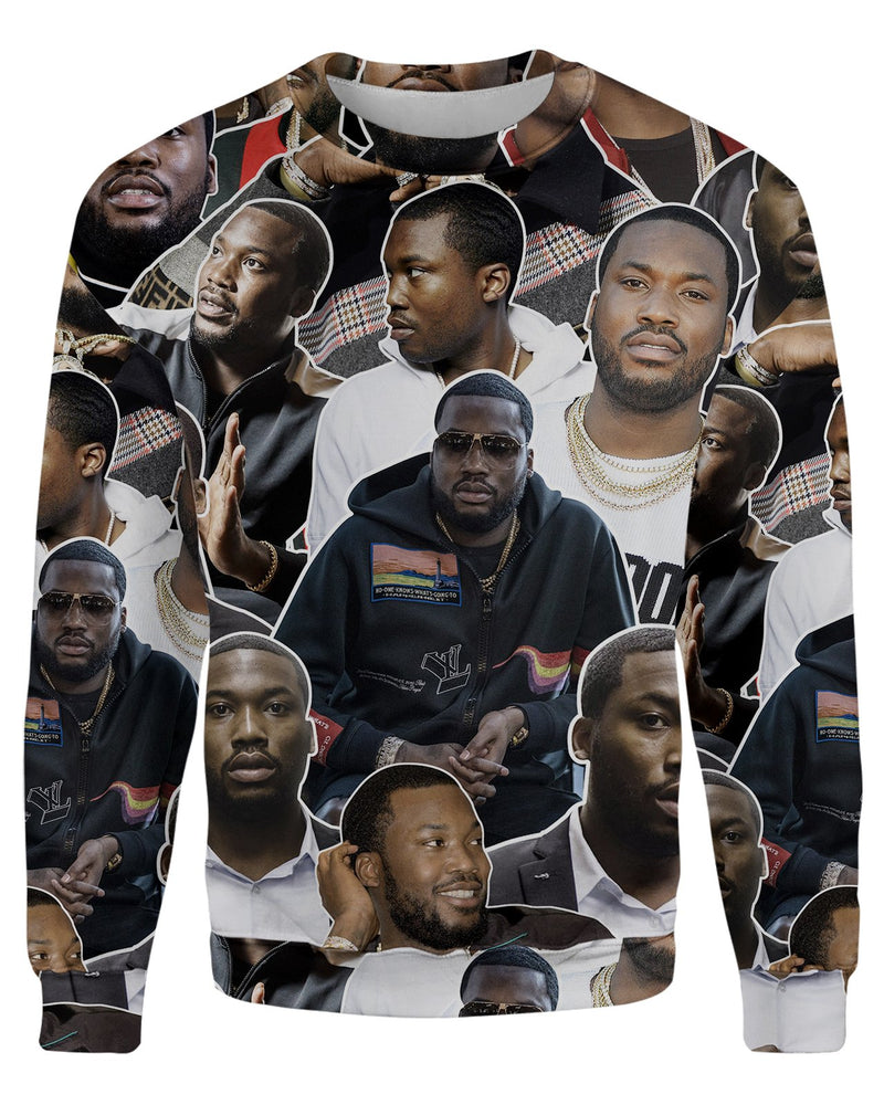 Meek Mill printed all over in HD on premium fabric. Handmade in California.