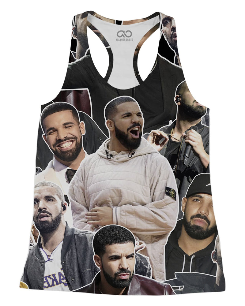 Drake printed all over in HD on premium fabric. Handmade in California.
