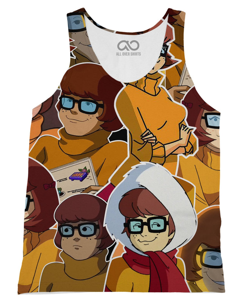 Velma Dinkley printed all over in HD on premium fabric. Handmade in California.