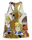 Scooby Doo Collage Racerback-Tank