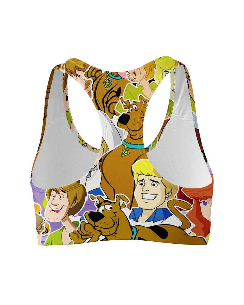 Scooby Doo Collage Sports Bra
