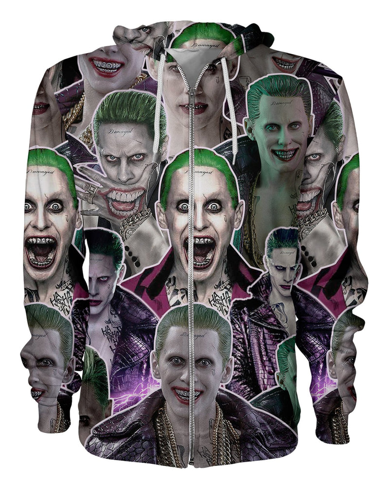 Joker printed all over in HD on premium fabric. Handmade in California.