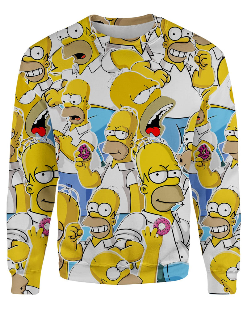 Homer Simpson printed all over in HD on premium fabric. Handmade in California.