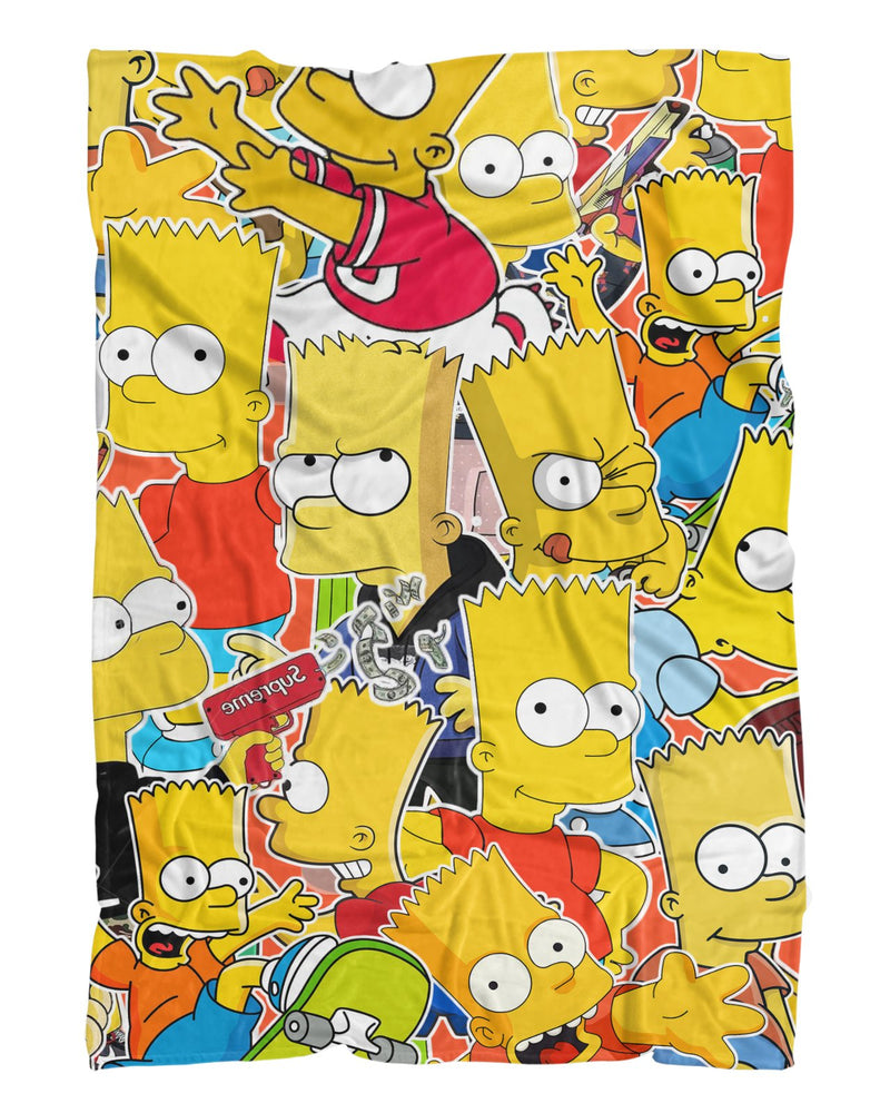 Bart Simpson printed all over in HD on premium fabric. Handmade in California.