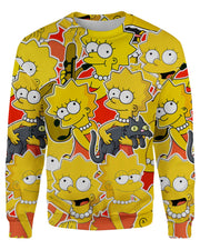 Lisa Simpson printed all over in HD on premium fabric. Handmade in California.