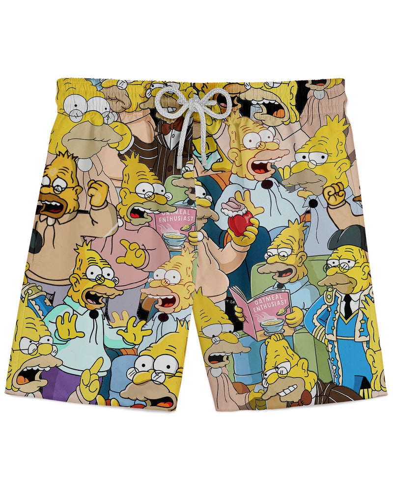 Abraham Simpson II printed all over in HD on premium fabric. Handmade in California.