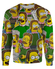 Ned Flanders printed all over in HD on premium fabric. Handmade in California.