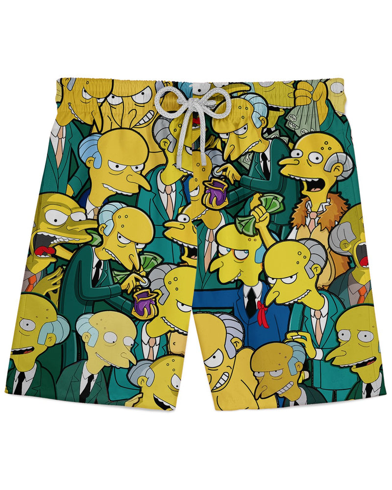 Charles Montgomery Burns printed all over in HD on premium fabric. Handmade in California.