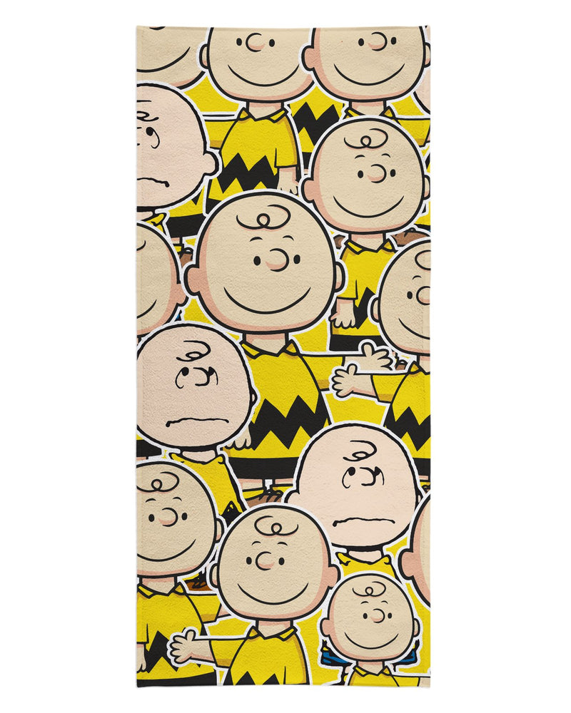 Charlie Brown printed all over in HD on premium fabric. Handmade in California.