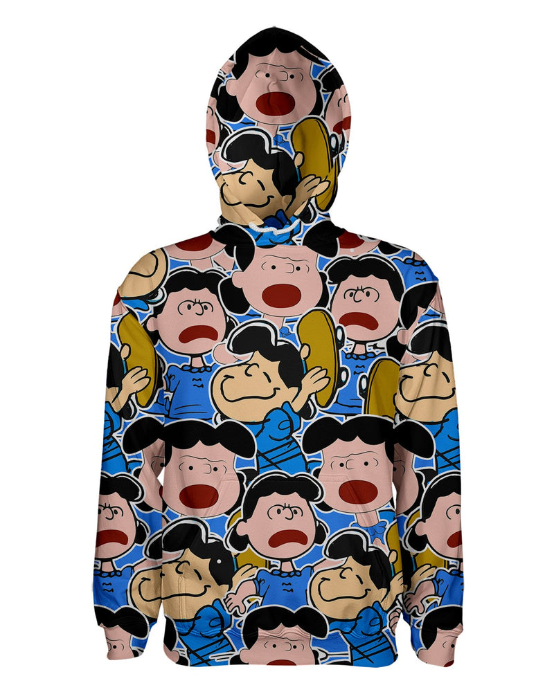 Lucy van Pelt printed all over in HD on premium fabric. Handmade in California.