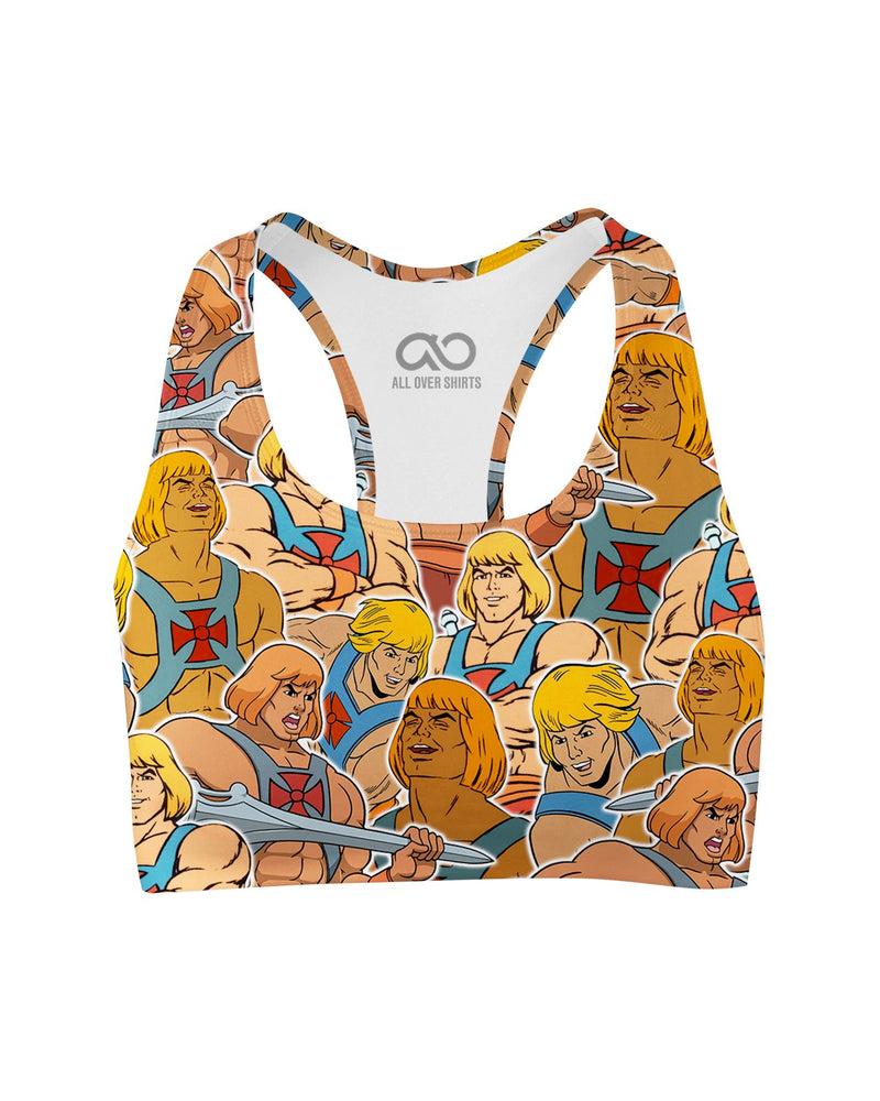 He Man printed all over in HD on premium fabric. Handmade in California.