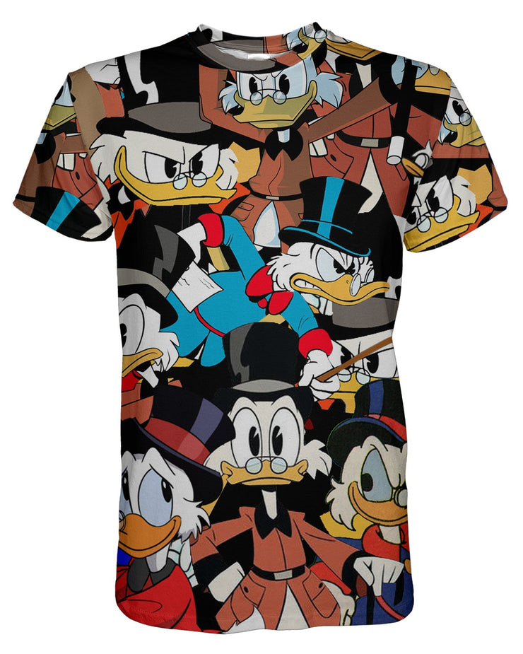 Scrooge Mcduck printed all over in HD on premium fabric. Handmade in California.