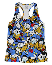 Donald Duck printed all over in HD on premium fabric. Handmade in California.