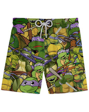 Donatello printed all over in HD on premium fabric. Handmade in California.