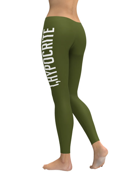 I Hypocrite Green Leggings