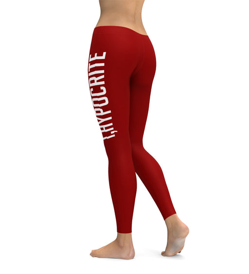 I Hypocrite Red Leggings