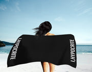 I Hypocrite Black Beach Towel