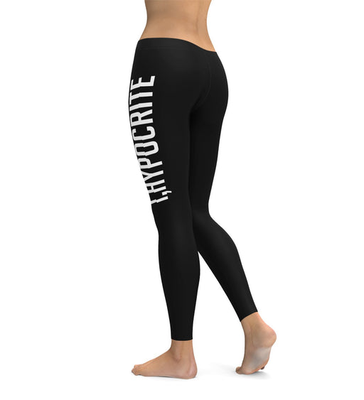 I Hypocrite Black Leggings