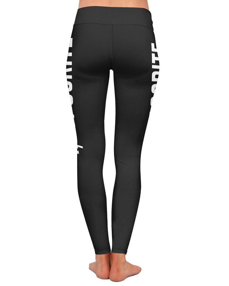 I Hypocrite Black Yoga Leggings