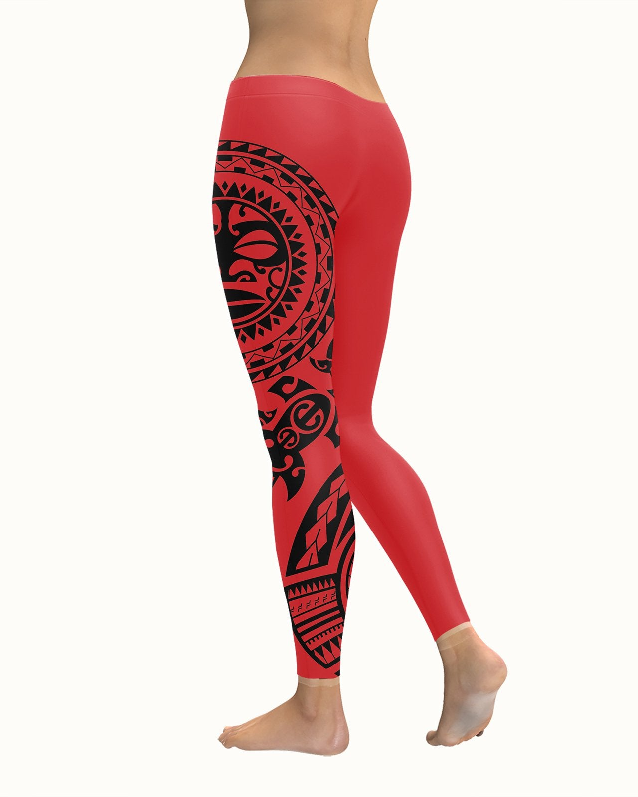 Maori Red Leggings