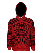 Maori Red Pullover Hoodie