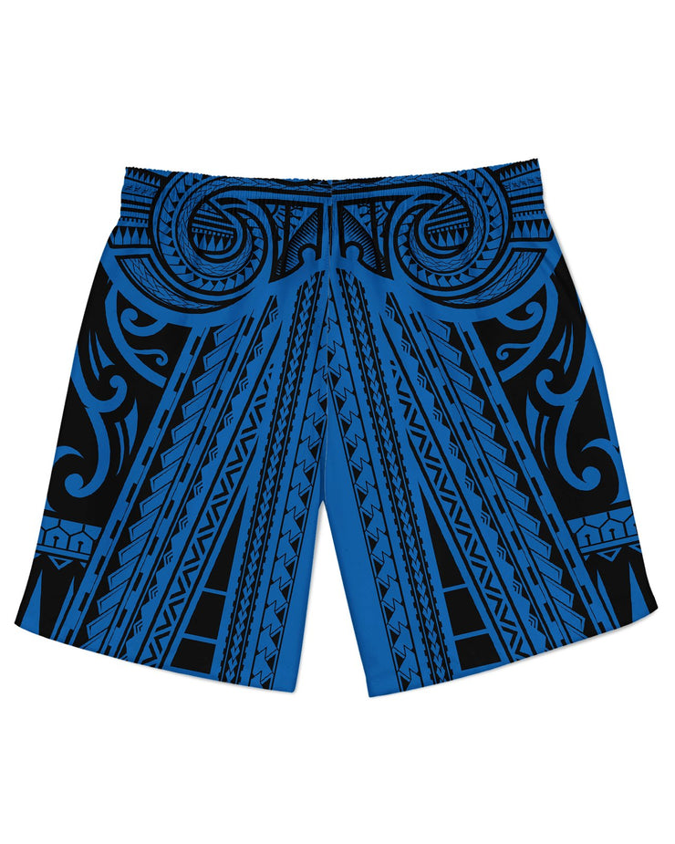 Ta Tau Black and Blue Athletic Shorts