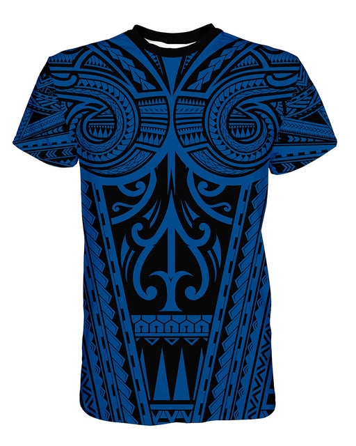 Ta Tau Black and Blue printed all over in HD on premium fabric. Handmade in California.