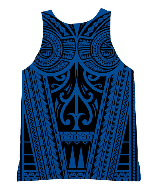 Ta Tau Black and Blue Tank-Top