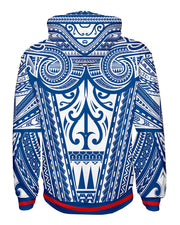 Ta Tau White and Blue Pullover Hoodie