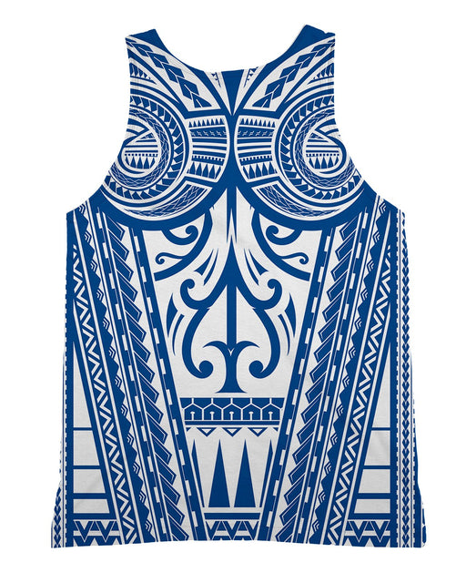 Ta Tau White and Blue Tank-Top