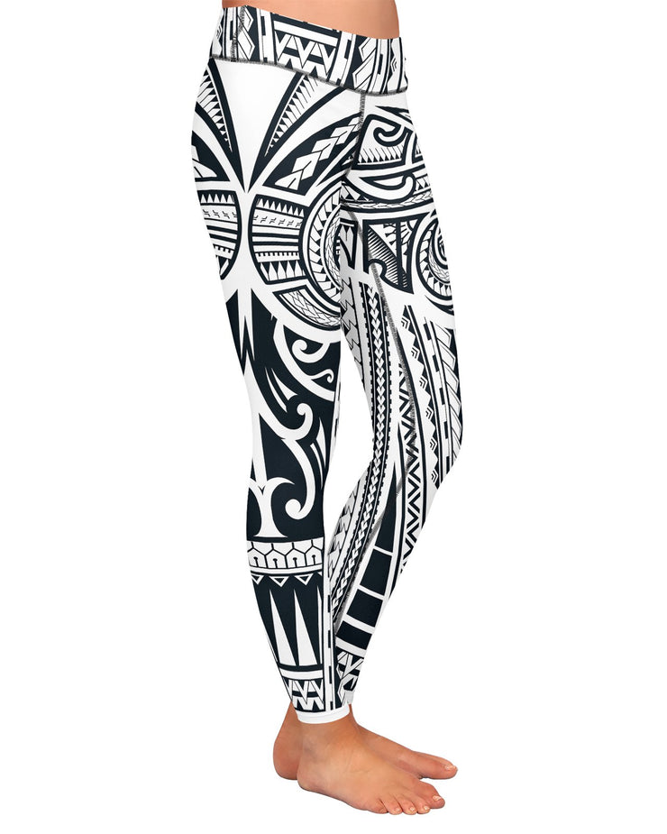 Ta Tau White Yoga Leggings