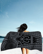 Ta Tau Grey Beach Towel