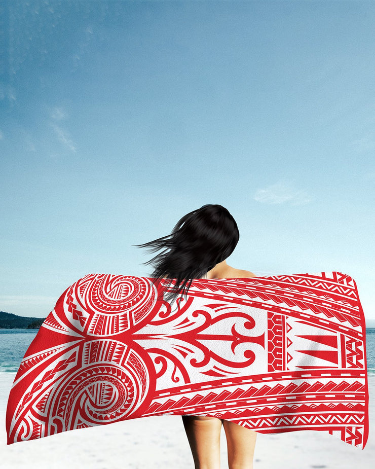 Ta Tau Red Beach Towel