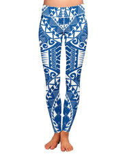 Samoa Blue Yoga Leggings