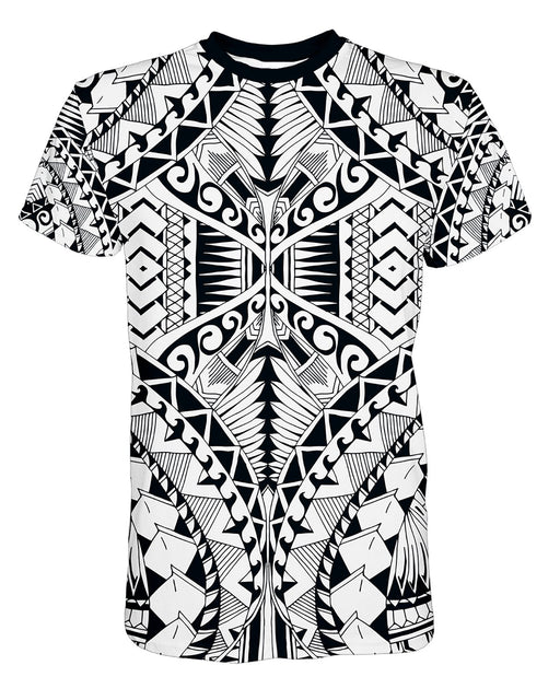 Samoa White printed all over in HD on premium fabric. Handmade in California.