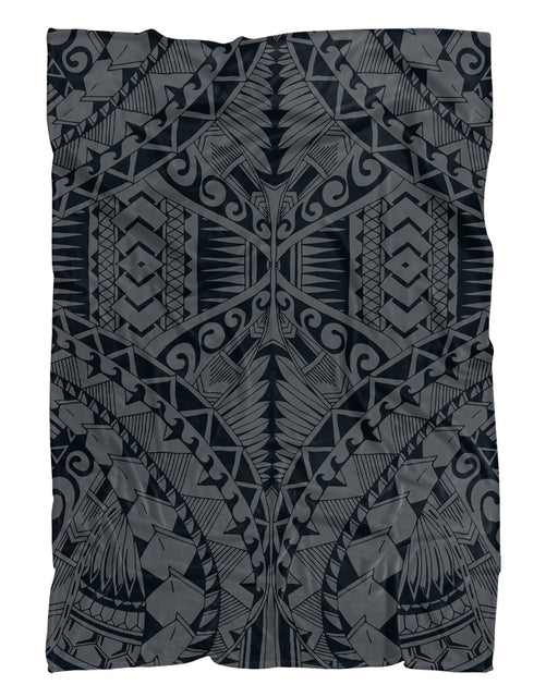 Samoa Grey printed all over in HD on premium fabric. Handmade in California.